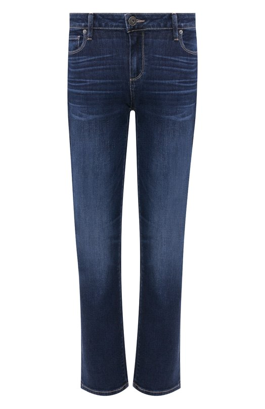Купить Укороченные расклешенные джинсы с потертостями Paige, 3505984-5250, США, Синий, Хлопок: 94%; Полиэстер: 5%; Эластан: 1%;