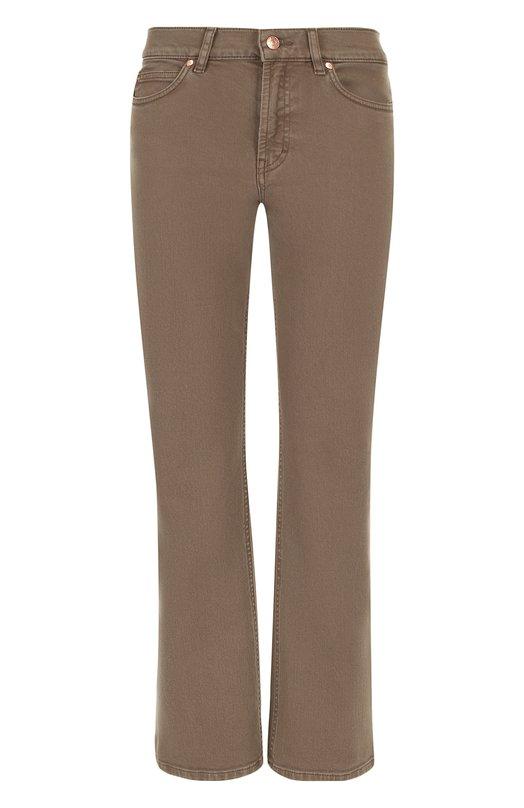 Купить Укороченные расклешенные джинсы Escada Sport, 5025159, Тунис, Бежевый, Хлопок: 98%; Эластан: 2%;