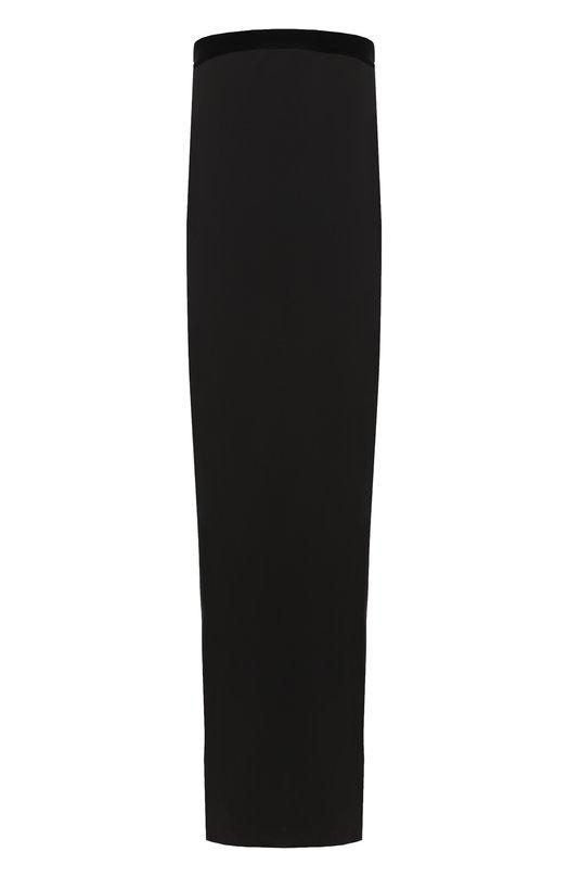 Купить Однотонное шелковое платье-бюстье Tom Ford, AB2062-FAX040, Италия, Черный, Подкладка-шелк: 94%; Отделка-вискоза: 69%; Подкладка-эластан: 6%; Отделка-купра: 31%; Шелк: 100%;