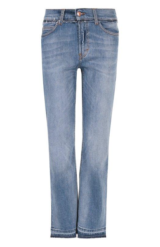 Купить Укороченные джинсы прямого кроя с потертостями Escada Sport, 5025152, Италия, Голубой, Хлопок: 95%; Полиэстер: 4%; Эластан: 1%;