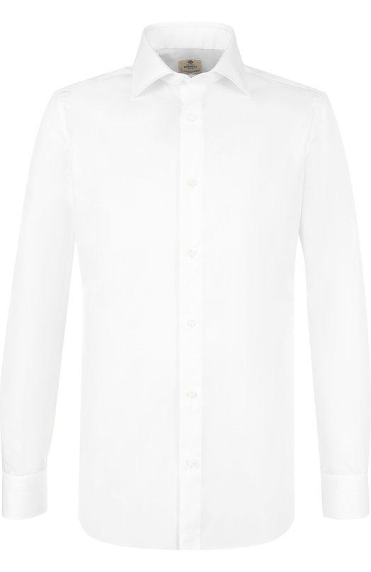 Купить Хлопковая сорочка с воротником кент Luigi Borrelli, EV08/TS5225, Италия, Белый, Хлопок: 100%;