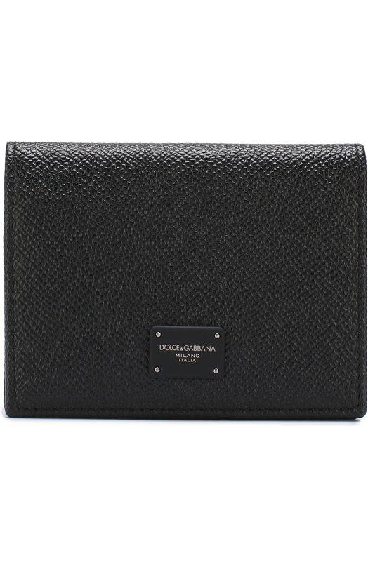 Купить Кожаный футляр для кредитных карт с клапаном Dolce & Gabbana, BP1643/AI359, Италия, Черный, Кожа натуральная: 100%;