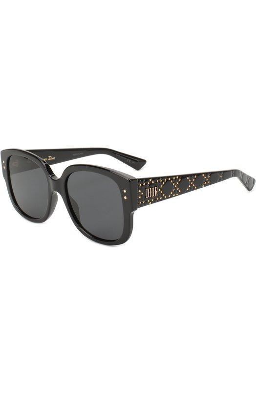 Купить Солнцезащитные очки Dior, LADYDI0RSTUDS 807, Италия, Черный
