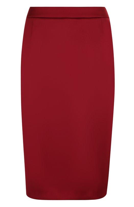 Купить Однотонная юбка-миди с разрезом Escada, 5025494, Румыния, Бордовый, Подкладка-купра: 94%; Полиэстер: 67%; Подкладка-эластан: 6%; Эластан: 4%; Полиамид: 29%;