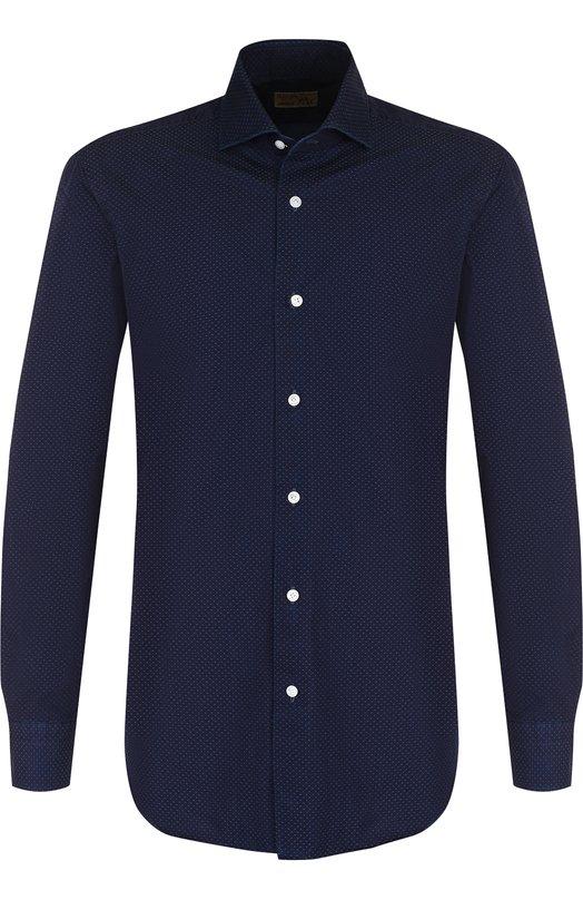 Купить Хлопковая рубашка с воротником кент Barba, D4U133PZ2764U, Италия, Синий, Хлопок: 100%;