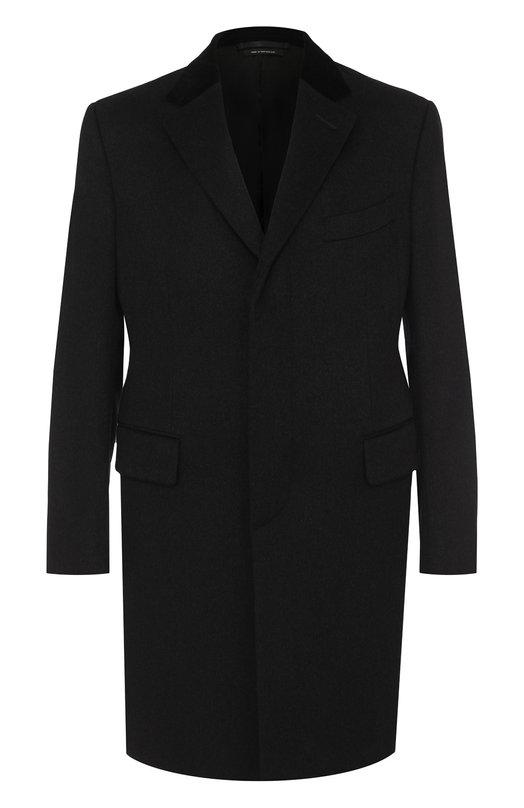 Купить Однобортное кашемировое пальто Tom Ford, 299R31/41TZ40, Швейцария, Темно-серый, Кашемир: 100%; Подкладка-купра: 100%;