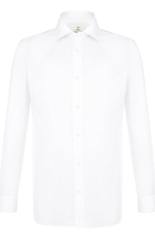 Купить Хлопковая сорочка с воротником кент Luigi Borrelli, EV08/TS5220, Италия, Белый, Хлопок: 100%;