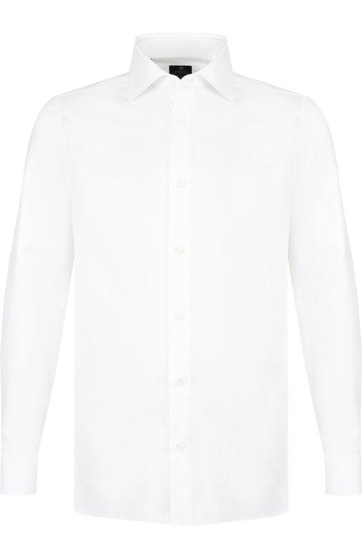 Купить Хлопковая сорочка с воротником кент Luigi Borrelli, EV08/TS5275, Италия, Белый, Хлопок: 100%;