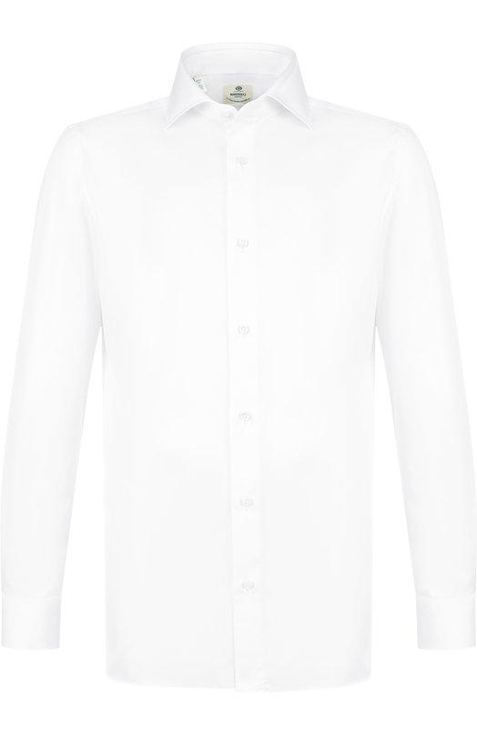 Купить Хлопковая сорочка с воротником акула Luigi Borrelli, EV08/TS5400, Италия, Белый, Хлопок: 100%;