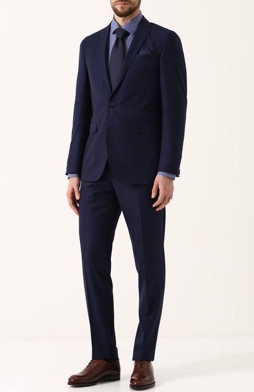 Купить Шерстяной костюм с пиджаком на двух пуговицах Sand, 1563/STAR-CRAIG, Португалия, Синий, Подкладка-вискоза: 50%; Подкладка-ацетат: 50%; Шерсть: 100%;