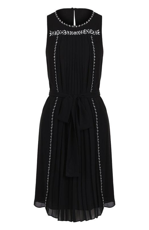 Купить Приталенное мини-платье без рукавов MICHAEL Michael Kors, MH78XL27R3, Китай, Черный, Полиэстер: 100%; Подкладка-полиэстер: 100%;