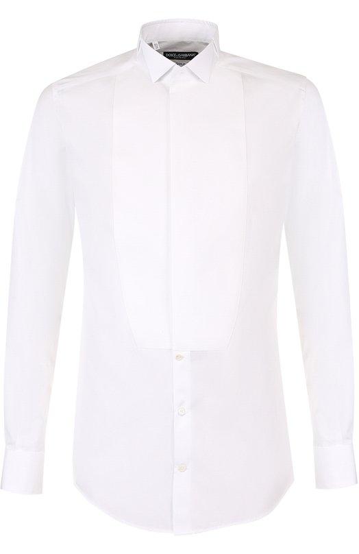 Купить Хлопковая сорочка с воротником бабочка Dolce & Gabbana, G5EN3T/FU5GK, Италия, Белый, Хлопок: 100%;