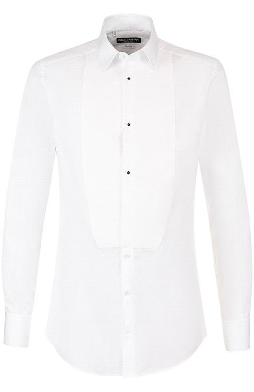 Купить Хлопковая сорочка под смокинг Dolce & Gabbana, G5EN4T/FU5GK, Италия, Белый, Хлопок: 100%;