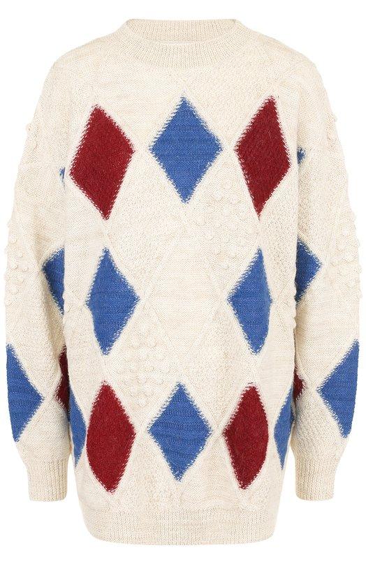 Шерстяной свитер свободного кроя с круглым вырезом Isabel Marant Etoile Isabel Marant Étoile