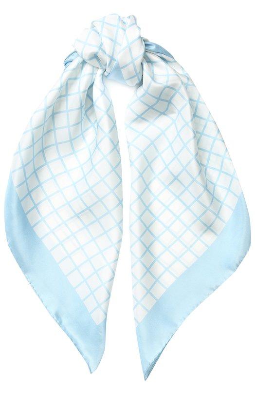 Купить Шелковый платок с принтом Giorgio Armani, 795398/8P109, Италия, Голубой, Шелк: 100%;