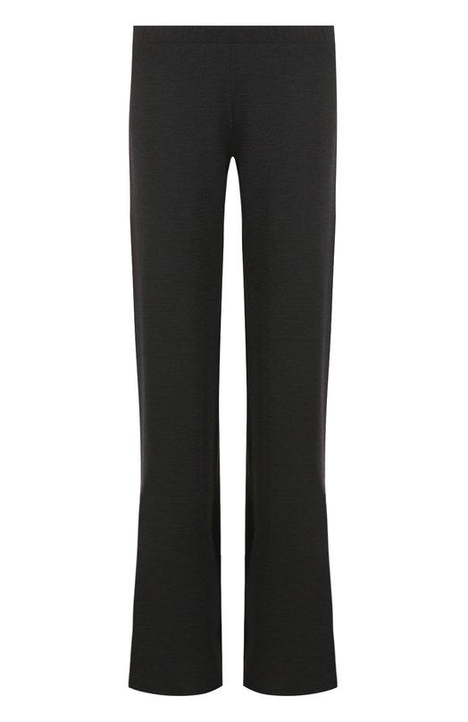 Купить Однотонные расклешенные брюки с эластичным поясом Pietro Brunelli, PNM002/WLM003, Италия, Черный, Полиамид: 5%; Шерсть: 47%; Акрил: 47%; Эластан: 1%;