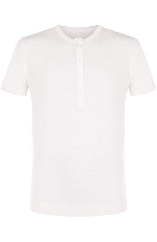 Купить Льняная футболка хенли 120% Lino, N0M7672/E908/301, Болгария, Белый, Лен: 100%;