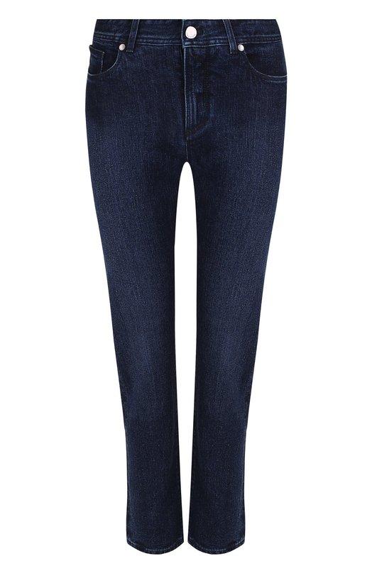 Купить Однотонные джинсы прямого кроя Loro Piana, FAF4049, Италия, Синий, Хлопок: 98%; Эластан: 2%;
