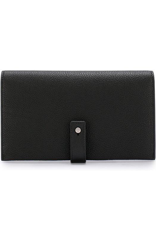 Купить Кожаное портмоне с футляром для кредитных карт Saint Laurent, 504981/DTI0E, Италия, Черный, Кожа натуральная: 100%;