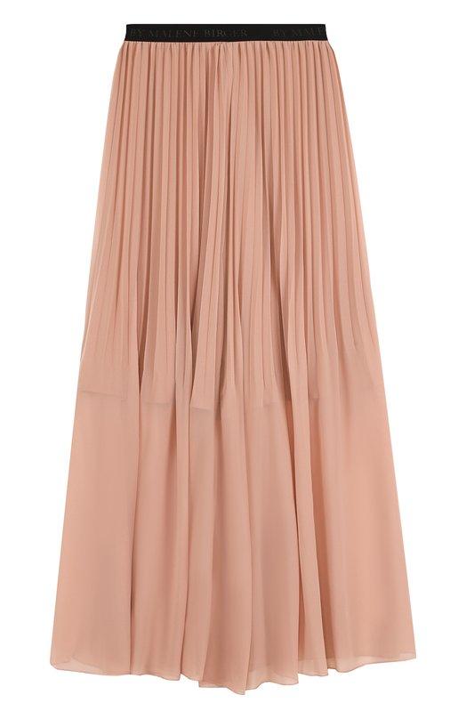 Купить Плиссированная юбка-макси с контрастным эластичным поясом By Malene Birger, Q60407046/LALLAH, Китай, Розовый, Полиэстер: 100%; Подкладка-полиэстер: 100%;