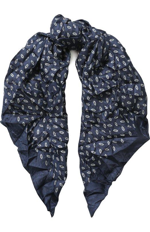 Купить Шелковый платок с принтом Giorgio Armani, 795397/8P108, Италия, Синий, Шелк: 100%;