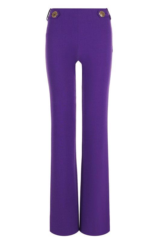 Купить Однотонные расклешенные брюки Emilio Pucci, 81RT15/81603, Италия, Фиолетовый, Шерсть: 87%; Эластан: 2%; Вискоза: 11%;