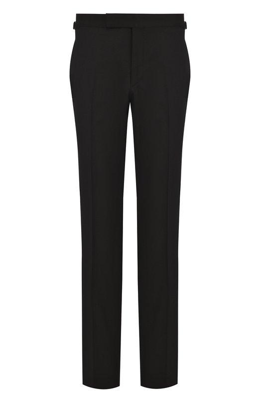 Купить Шерстяные брюки прямого кроя Tom Ford, 222R97/610043, Италия, Черный, Шерсть: 100%; Подкладка-купра: 100%;