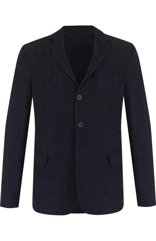 Купить Однобортный льняной пиджак 120% Lino, N0M8469/D695/001, Болгария, Темно-синий, Лен: 100%;