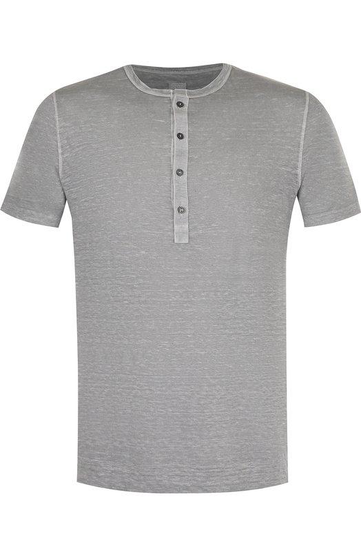 Купить Льняная футболка хенли 120% Lino, N0M7672/E908/301, Болгария, Серый, Лен: 100%;