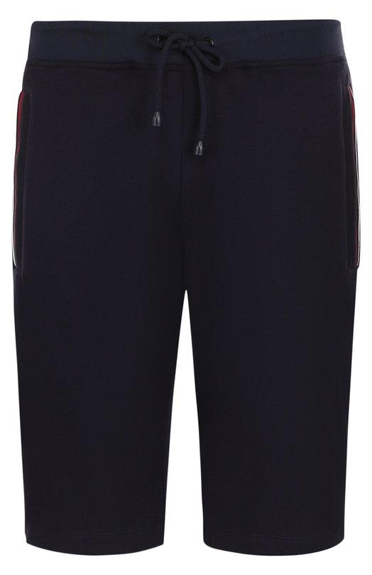 Купить Хлопковые шорты с поясом на кулиске Paul&Shark, P18P1826, Италия, Темно-синий, Хлопок: 100%;