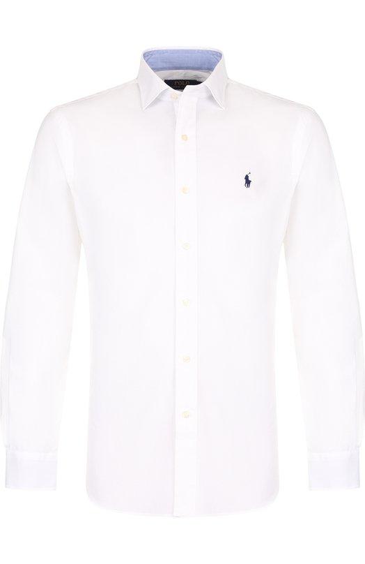 Купить Хлопковая рубашка с воротником кент Polo Ralph Lauren, 710684875, Китай, Белый, Хлопок: 100%;