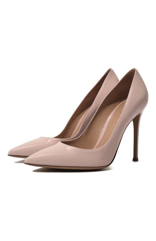 Купить Лаковые туфли Gianvito 105 на шпильке Gianvito Rossi, G28470.15RIC.VERR0SA, Италия, Розовый, Кожа натуральная: 100%; Стелька-кожа: 100%; Подошва-кожа: 100%;