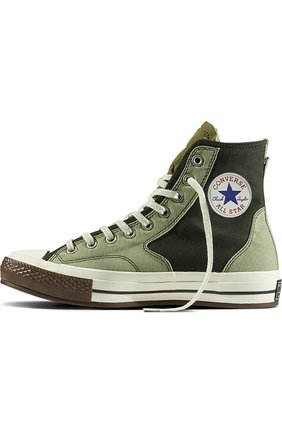 Текстильные кеды Chuck Taylor All Star 70s Hiker Slam Jam Converse оливковые | Фото №1