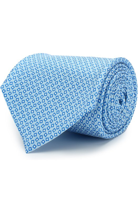 Купить Шелковый галстук Kiton, UCRVKAC09E8501000, Италия, Светло-голубой, Шелк: 100%;