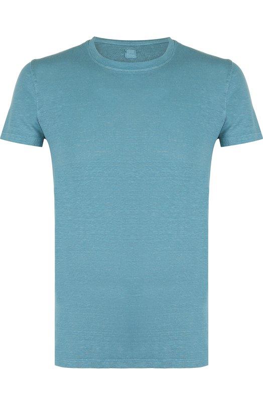 Купить Льняная футболка с круглым вырезом 120% Lino, N0M7288/E908/301, Болгария, Зеленый, Лен: 100%;