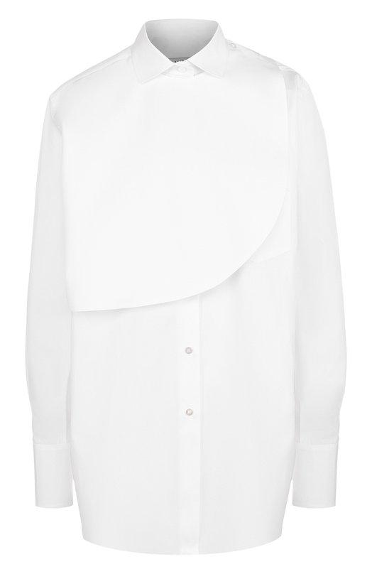 Купить Однотонная хлопковая блуза свободного кроя Valentino, PB3AB10B/1M1, Италия, Белый, Хлопок: 100%;