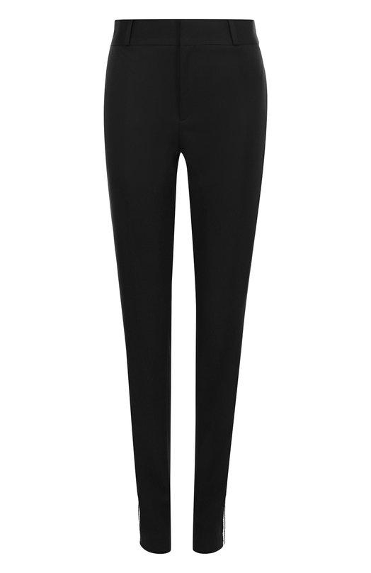 Купить Шерстяные брюки с карманами и контрастными лампасами Saint Laurent, 504441/Y173Q, Италия, Черный, Шерсть: 100%;
