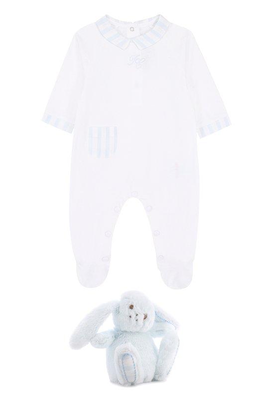 Купить Комплект из пижамы и игрушки Tartine Et Chocolat, TK99041, Франция, Голубой, Хлопок: 100%;