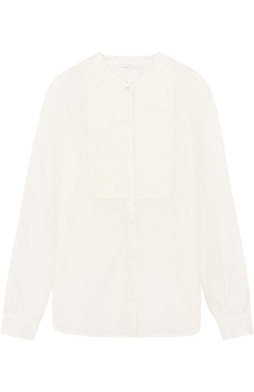 Хлопковая блуза с декоративной отделкой Chloé Chloe