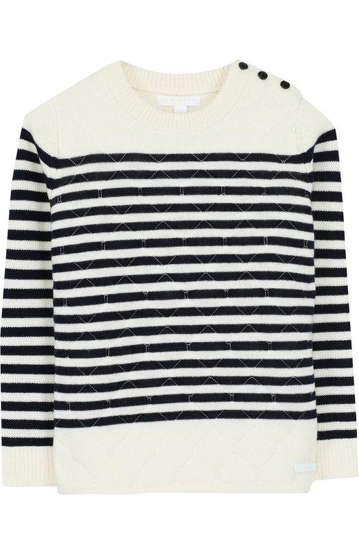 Пуловер из шерсти и кашемира в полоску Burberry