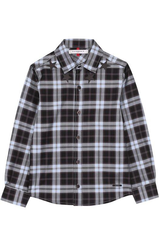 Хлопковая рубашка с принтом Givenchy