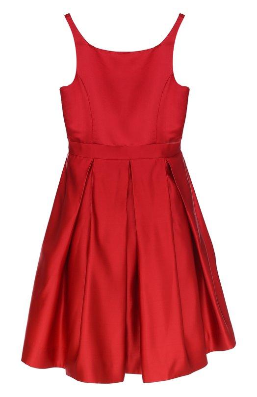 Купить Шелковое платье с защипами и на тонких бретельках Polo Ralph Lauren, 313674331, Китай, Красный, Шелк: 100%; Подкладка-полиэстер: 100%; Подкладка-купра: 100%;