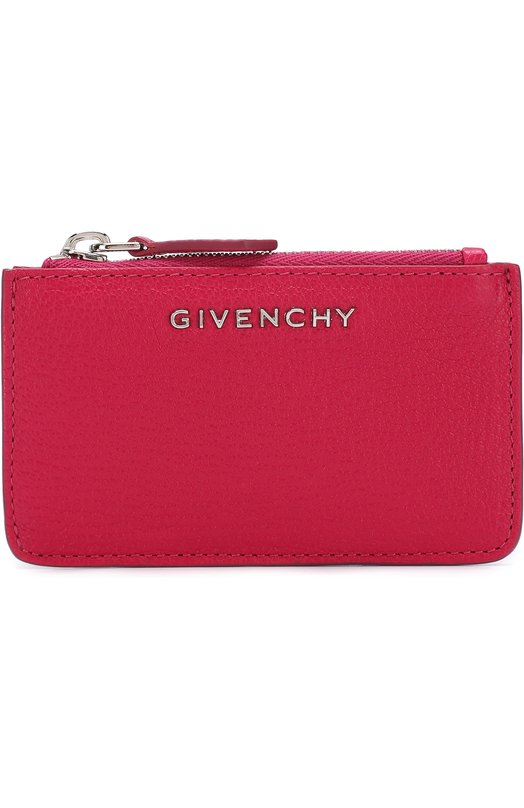 Купить Кожаный футляр для кредитных карт с логотипом бренда Givenchy, BC06245012, Италия, Фуксия, Кожа натуральная: 100%;