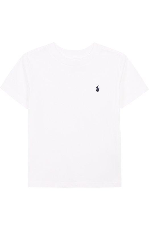Купить Хлопковая футболка с логотипом бренда Polo Ralph Lauren, 321674984, Гватемала, Белый, Хлопок: 100%;