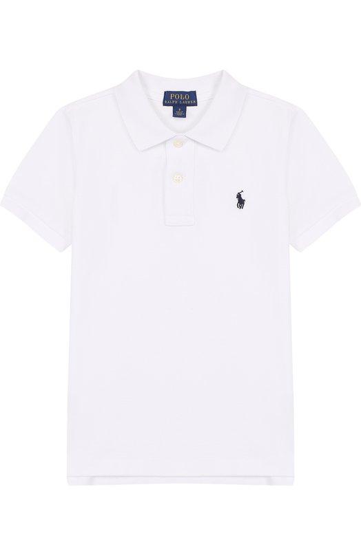 Купить Хлопковое поло с логотипом бренда Polo Ralph Lauren, 322603252, Китай, Белый, Хлопок: 100%;