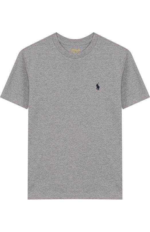 Купить Хлопковая футболка с логотипом бренда Polo Ralph Lauren, 323674984, Гватемала, Серый, Хлопок: 100%;