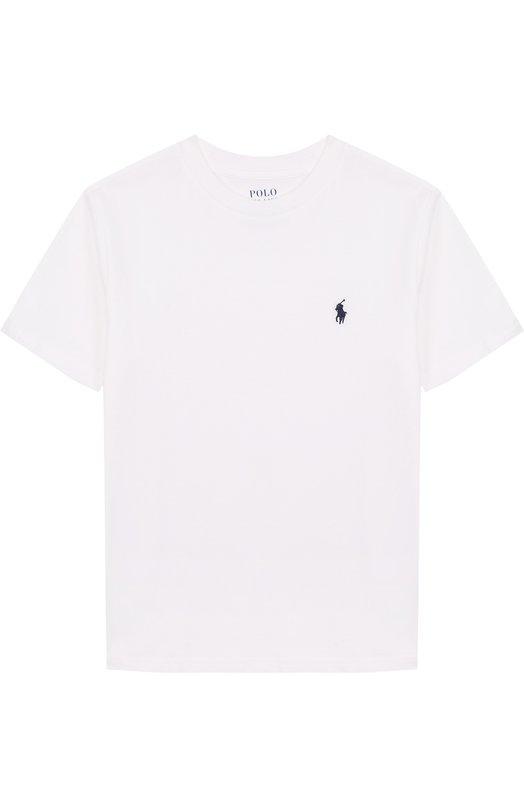 Купить Хлопковая футболка с логотипом бренда Polo Ralph Lauren, 323674984, Гватемала, Белый, Хлопок: 100%;