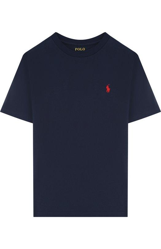 Купить 323674984, Хлопковая футболка Polo Ralph Lauren, Гватемала, Синий, Хлопок: 100%;, Мужской, Футболки