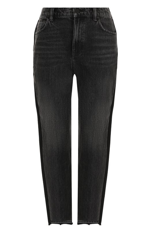 Купить Укороченные джинсы с потертостями Denim X Alexander Wang, 4D994144BP, Китай, Темно-серый, Хлопок: 100%;