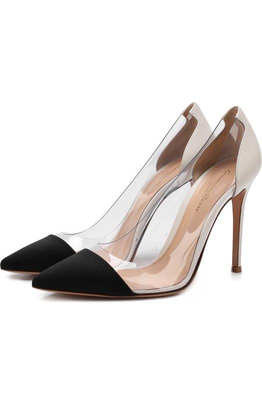 Комбинированные туфли Plexi на шпильке Gianvito Rossi Gianvito Rossi
